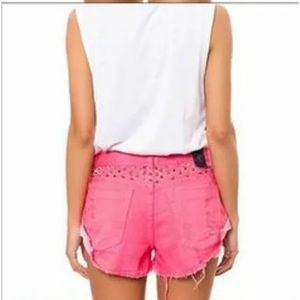 One Teaspoon Shorts - ONE TEASPOO Studded Bandit PINK Shorts Size 29